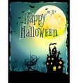 Halloween Background with haunted house EPS 10 vector image