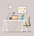 modern workplace job concept vector image