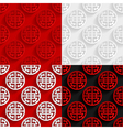 Set of traditional Chinese seamless patterns vector image