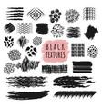 sketch brush stroke texture design elements vector image