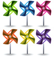 Toy windmills vector image