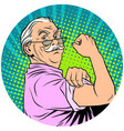 we can do it old man retired pop art avatar vector image