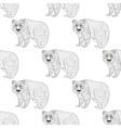 Panda seamless pattern Freehand ethnic sketch for