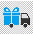 Gift Delivery Van Eps Icon vector image