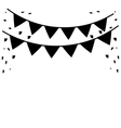 silhouette festive bunting confetti st patrick day vector image