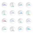 Yachts icons set vector image