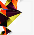 3d triangles and pyramids abstract geometric vector image