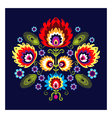 Folk Pattern With Flowers vector image