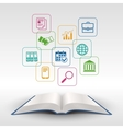Business education book concept vector image vector image