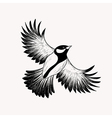 Sketch flying bird Hand drawn isolated Engraving vector image