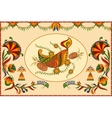 Happy Diwali background with diya and firecracker vector image vector image
