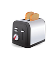 toaster isolated vector image vector image