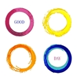 Bright set with rainbow inked circle for vector image