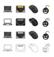 computer system office and other web icon in vector image