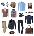 Fashion Business Man Accessories Set vector image