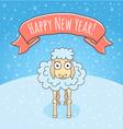 New Year Sheep vector image