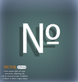 number icon Set Flat modern On the blue-green vector image