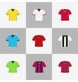 Soccer football shirts set vector image