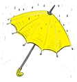 Umbrella under the rain vector image
