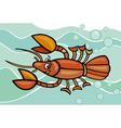 happy crayfish cartoon vector image vector image