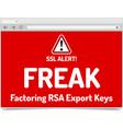 freak - factoring rsa export keys security - vector image