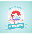 11 february japan day vector image