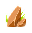 brown smooth mineral stones rocks in natural vector image