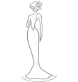 bride with an open back vector image vector image
