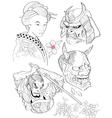Tattoo Japanese Style 1 vector image
