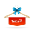 Hanger and Bow Sale Concept for Shop vector image vector image