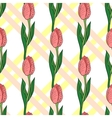 Seamless Pattern With Tulip 2 vector image