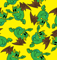 winged monster pattern vector image