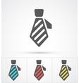 Necktie colorful flat trendy icon vector image