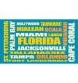 florida state cities list vector image