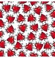 Pinned or nailed cartoon heart seamless pattern vector image vector image