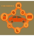 Auto service infographics with auto car repair and vector image