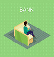 bank concept in isometric projection vector image