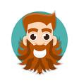 bearded man logo vector image