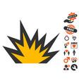 boom explosion icon with love bonus vector image