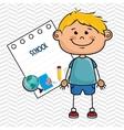 boy cartoon school student icon vector image