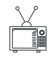 classic tv icon vector image