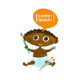 cute african american baby boy painting toddler vector image