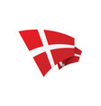 danmark flag vector image