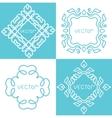 Design elements vintage vector image