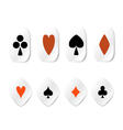 Set of card symbol stickers vector image