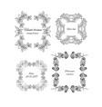 sketch ornamental floral design frames set vector image