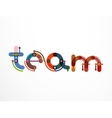 Team word lettering banner vector image