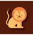 tender cute lion card icon vector image