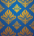 gold-blue-pattern vector image vector image