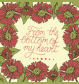 greeting card with lettering from the bottom of my vector image